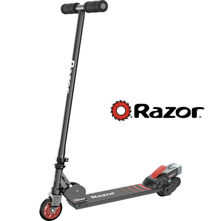 4 Wheel Power Scooter - Razor 12 Volt Electric-Powered Black Label Turbo A Scooter - For Ages 8+ and Speeds up to 10 MPH