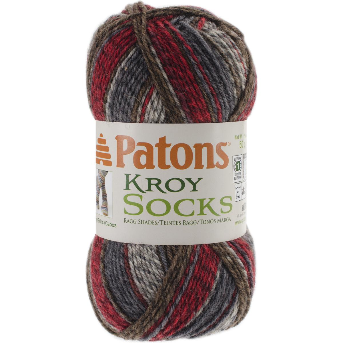 Kroy Socks Yarn-Grey Brown Marl
