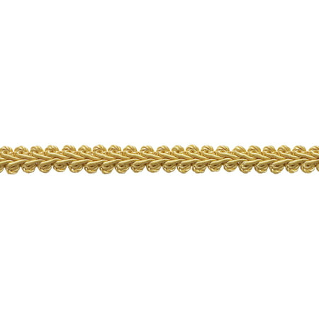 """1/2"""" Basic Trim French Gimp Braid, Style# FGS Color: LIGHT GOLD - B7,  Sold By the Yard"""