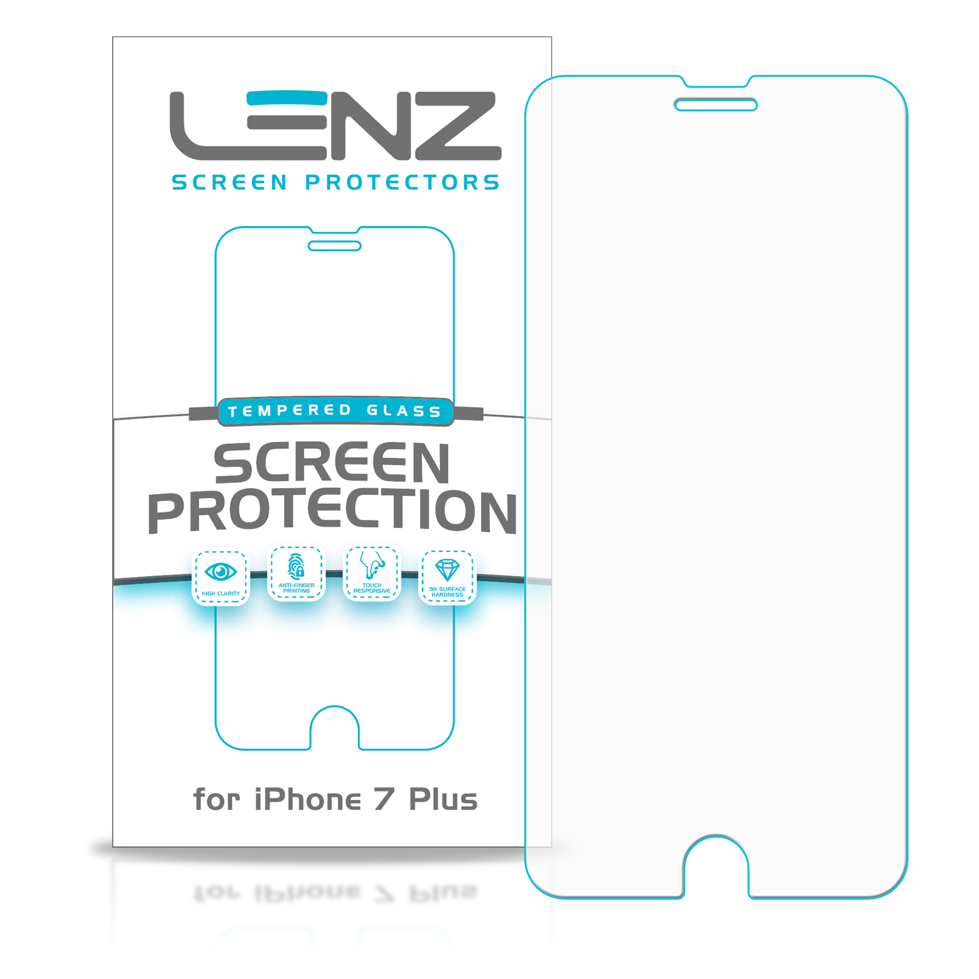 "Lenz iPhone 7 Plus Screen Protector - iPhone 7 Plus (5.5"") - Tempered Glass [2-Pack]"