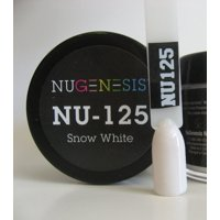 NUGENESIS Nail Color Dip Dipping Powder 1oz/jar - NU125 Snow White