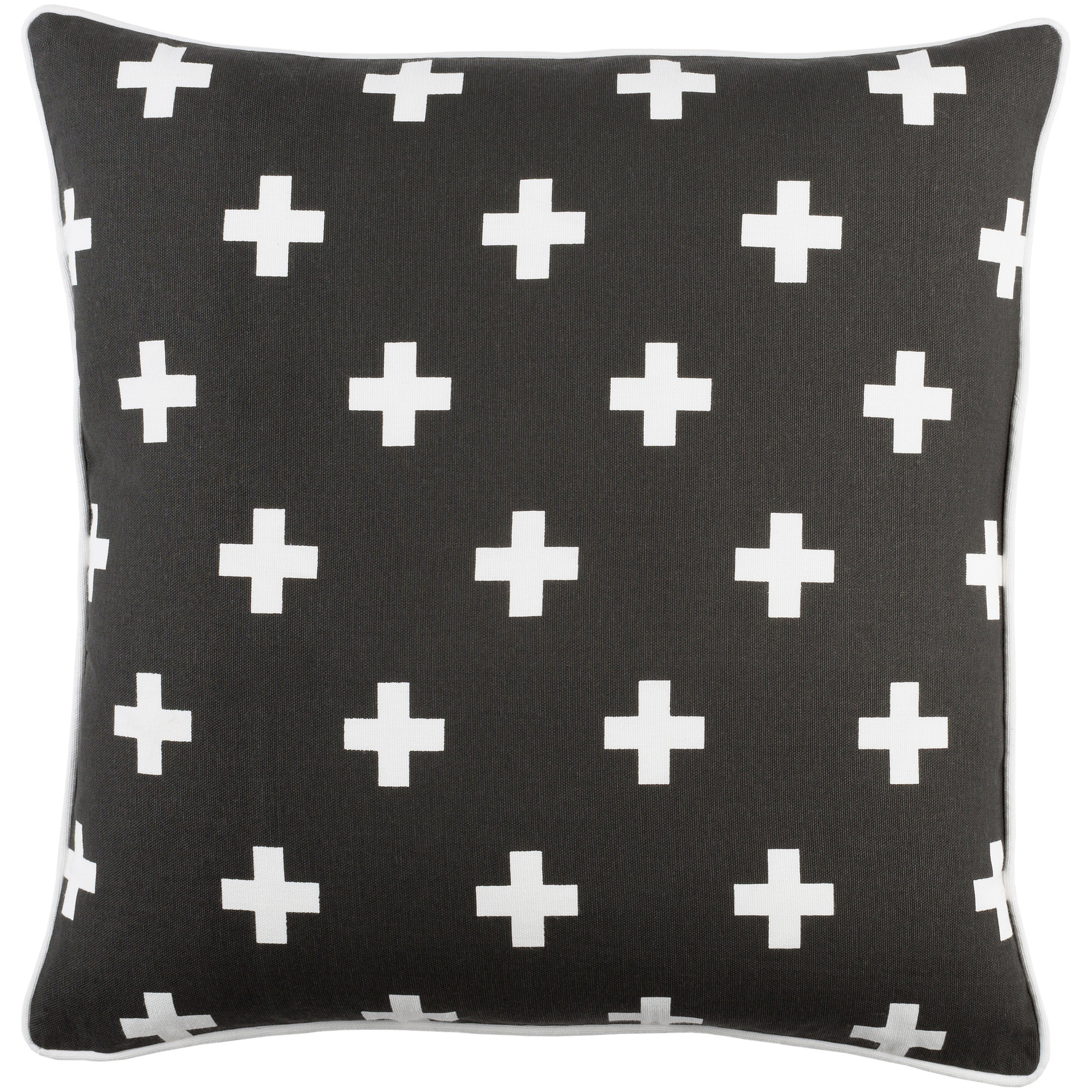 """Artistic Weavers Inga Cross 18"""" x 18"""" Pillow (with Poly Fill)"""