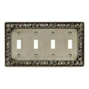 Paisley Quad-Switch Wall Plate, Available in Multiple Colors