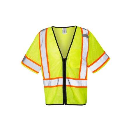 1565-1566 ML Kishigo Workwear Economy Single Pocket Contrasting Mesh Vest