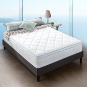 """Slumber 1 by Zinus  Euro Top Cooling Fusion Gel and Spring Hybrid Mattress, 12"""", Full"""
