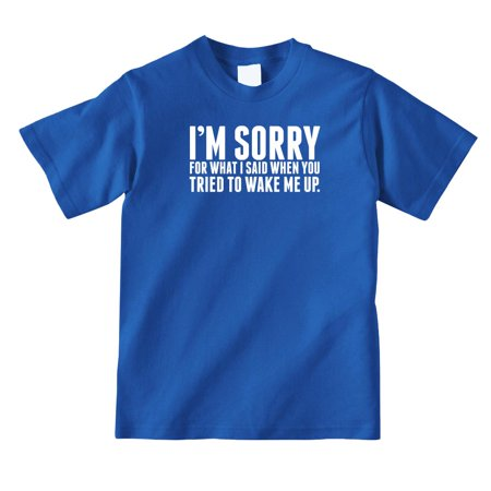 I'm Sorry For What I Said When You Tried To Wake Me Up Youth Shirt - ID: 986