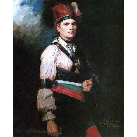 Joseph Brant (1742-1807) Nnative American Name Thayendanegea Mohawk Native American Chief Who Served In The French And Indian War PontiacS Rebellion And The American Revolutionary War Oil On Canvas