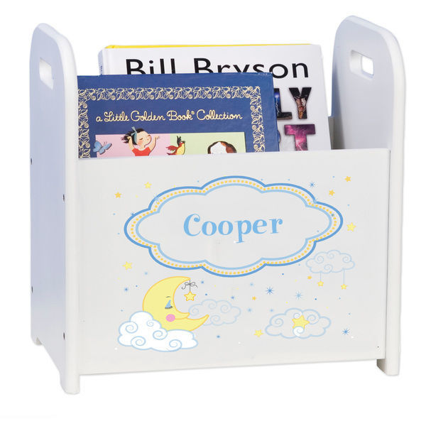 Personalized Moon and Stars Caddy and Book Rack