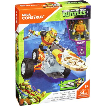 Mega Construx Teenage Mutant Ninja Turtles Stealth Racers Mikey Stealth Tour Trike for $<!---->