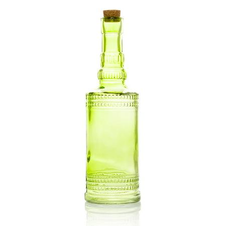 Camila Green Vintage Glass Bottle Glassware Flower Vase