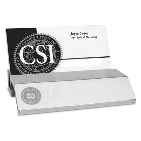 Notre Dame Silver Business Card Holder