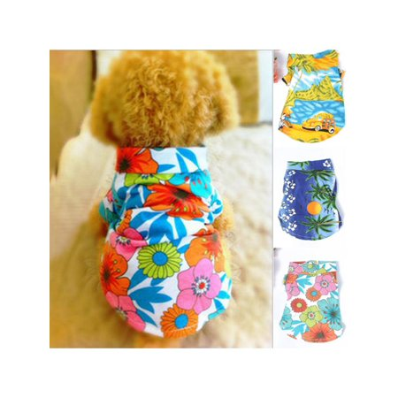 MarinaVida Small Pet Dog Puppy Summer Clothes Hawaiian Beach Floral T-Shirt Vest Apparel - Dog Snow White Costume