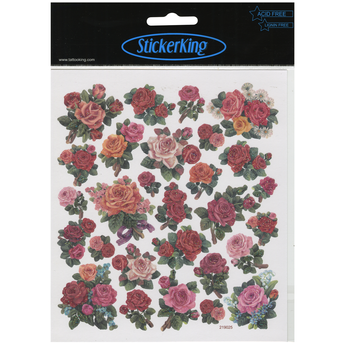 Multicolored Stickers-Classic Roses