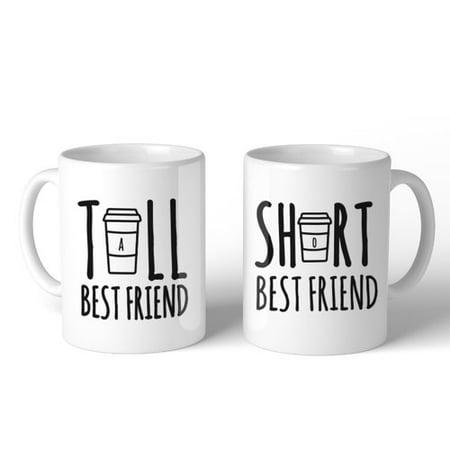 365 Printing Inc Tall and Short Best Friend 2 Piece Mug