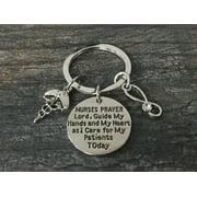 Nurse Keychain, Nurse Gift, Nurse Prayer Keychain, Nursing Keychain Makes Perfect Nurses Gift?