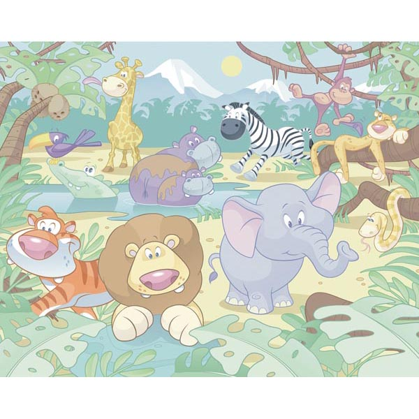 Baby Jungle Safari Wall Mural