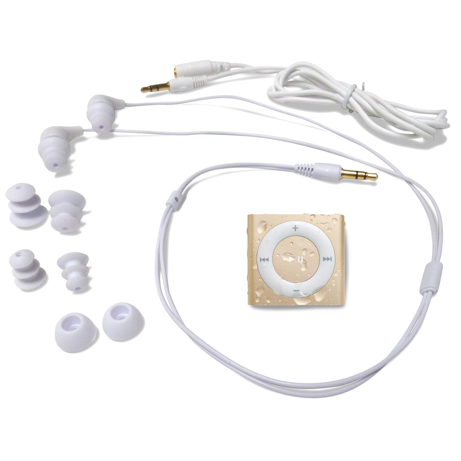 Underwater Audio Waterproof iPod Shuffle & Swimbuds Headphones Bundle