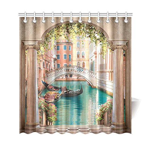 GCKG Street In Venice Shower Curtain 66x72 Inches Waterproof