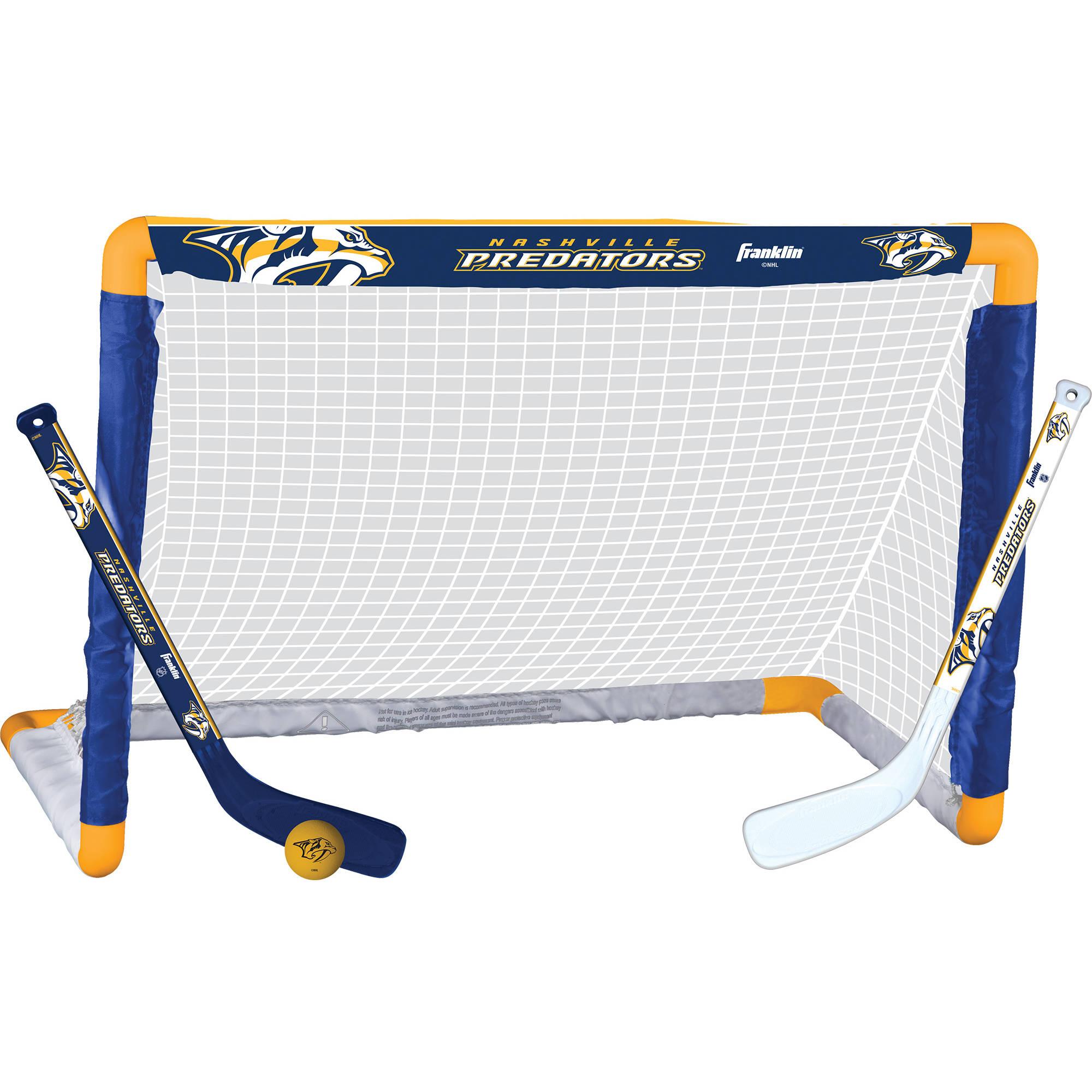 Franklin Sports NHL Nashville Predators Mini Hockey Set