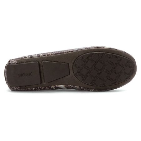 60b30aaeca4 Vionic - Vionic by Orthaheel Women s Ease Sydney Brown Snake Slip-On Loafer  - Walmart.com