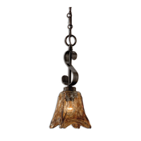 Mini Pendants 1 Light With Oil Rubbed Bronze Finish Brass Metal Glass Material 6 inch 100 Watts