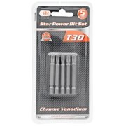 """Illinois Industrial Tool 5-pc. T30 Star Power Bit Set"""