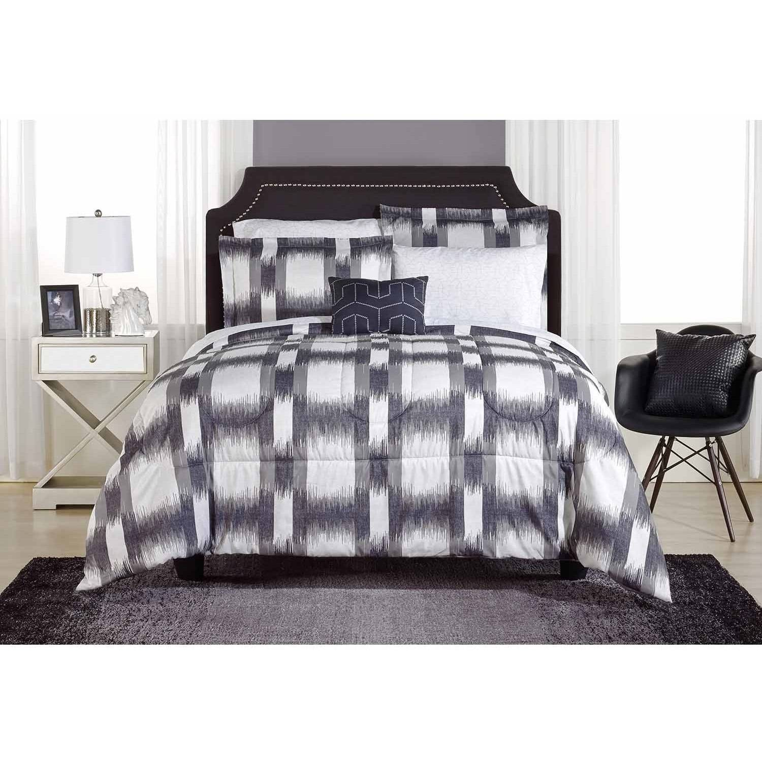Mainstays Emerson Plaid Bed-in-a-Bag Bedding Set