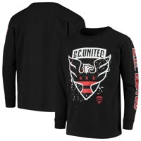 D.C. United Youth Deconstructed Long Sleeve T-Shirt - Black