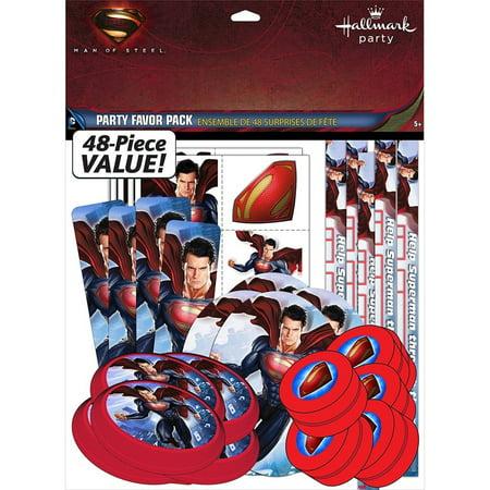 Party Favors - Superman - Value Pack - 48pc Set (Superman Party Pack)