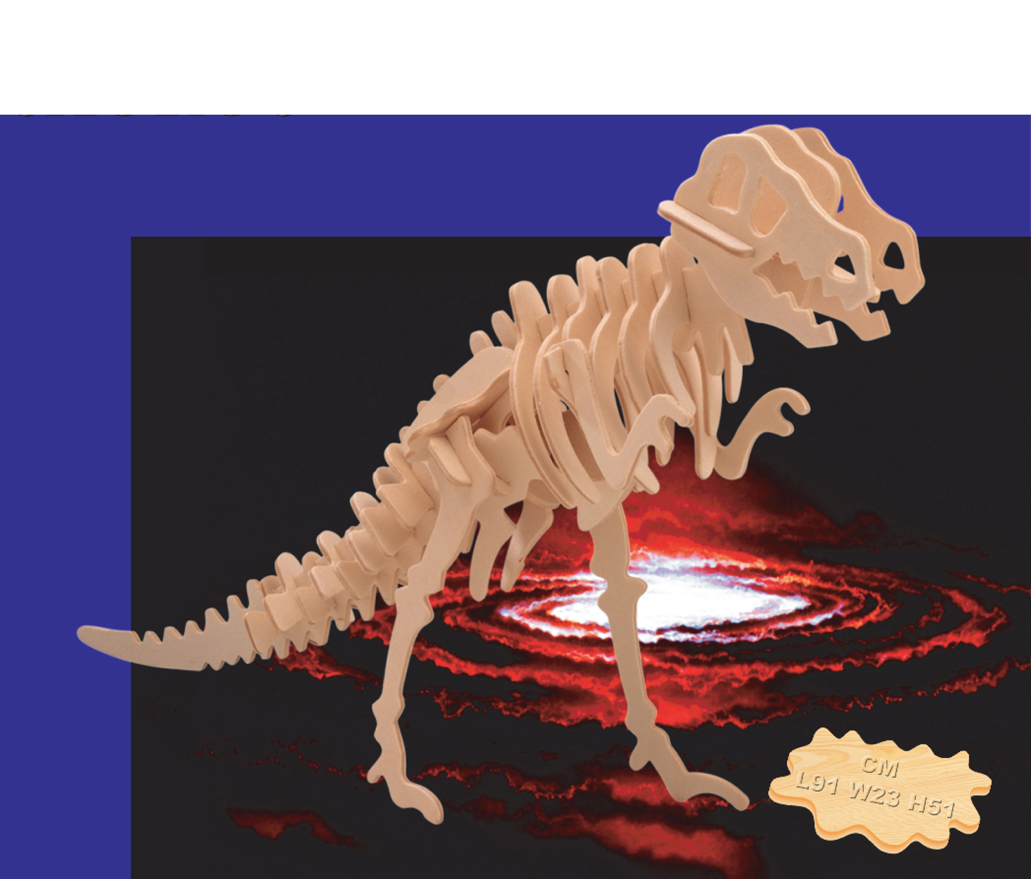 3D Puzzles Big Tyrannosaurus by Puzzled