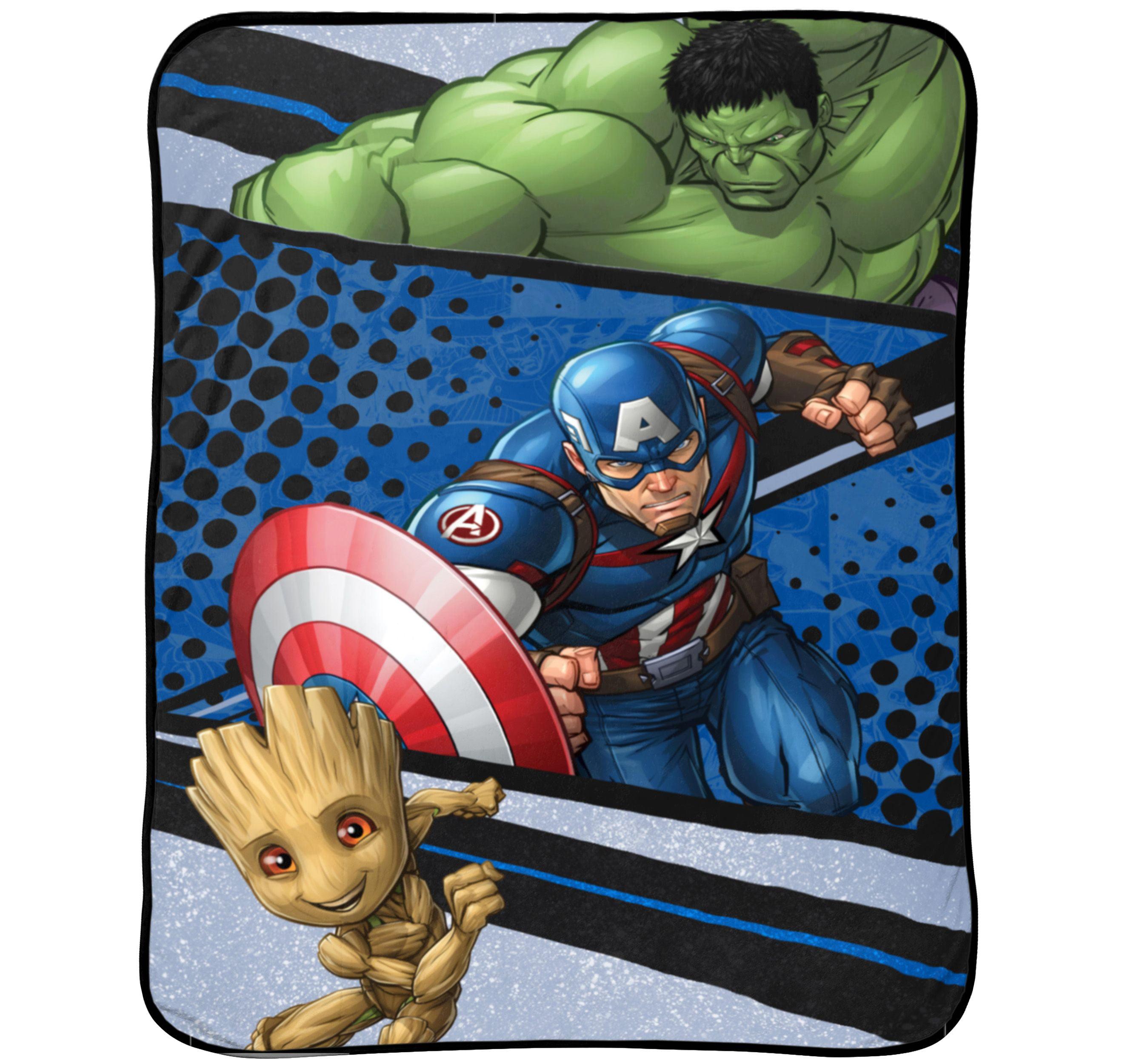 """Marvel's Avengers 62"""" x 90"""" Plush Blanket, Kid's Bedding"""