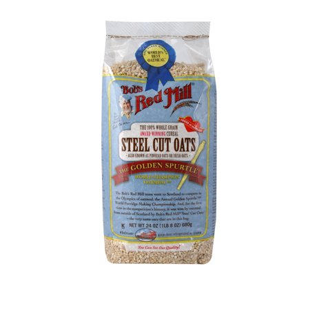 (3 Pack) Bobs Red Mill Whole Grain Steel Cut Oats, 24 Oz 100% Natural Oats