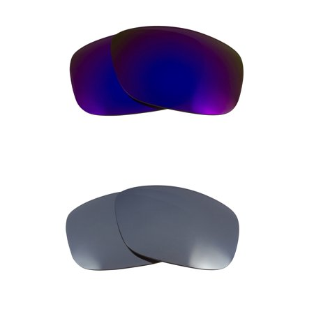 Oil Drum Replacement Lenses Polarized Silver & Purple by SEEK fits OAKLEY