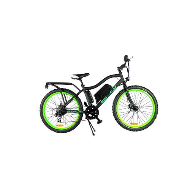 Big Cat Electric Bikes BCGRBGW Ghostrider Mountain Bike, Black & Green by Big Cat Electric Bikes