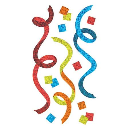Bulk Roll Prismatic Stickers, Streamers / Confetti / Multicolor (50 (Prismatic Gems)