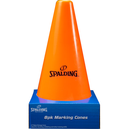 "Spalding 9"" Orange Cones, 8-Pack"