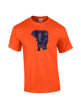 19341f966d8563 Product Image Elephant With Colorful Aztec Design T-Shirt