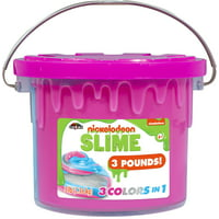 Cra-Z-Art Nickelodeon Slime 3lb Tri-Color Bucket with 3 Colors in 1 (Styles May Vary)