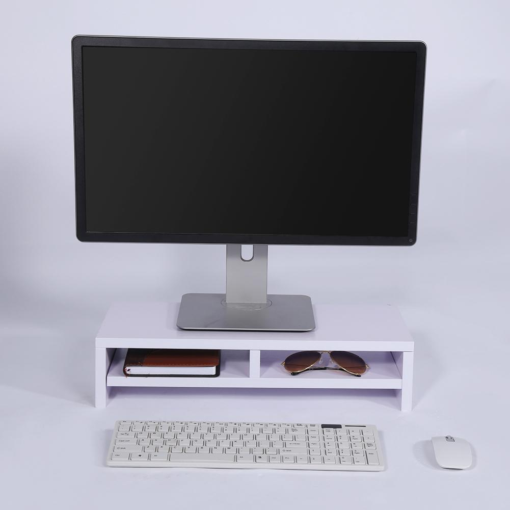 Computer Monitor Stand TV Shelf Risers 19.7 inch 2 Tiers Monitor Stand Save Space