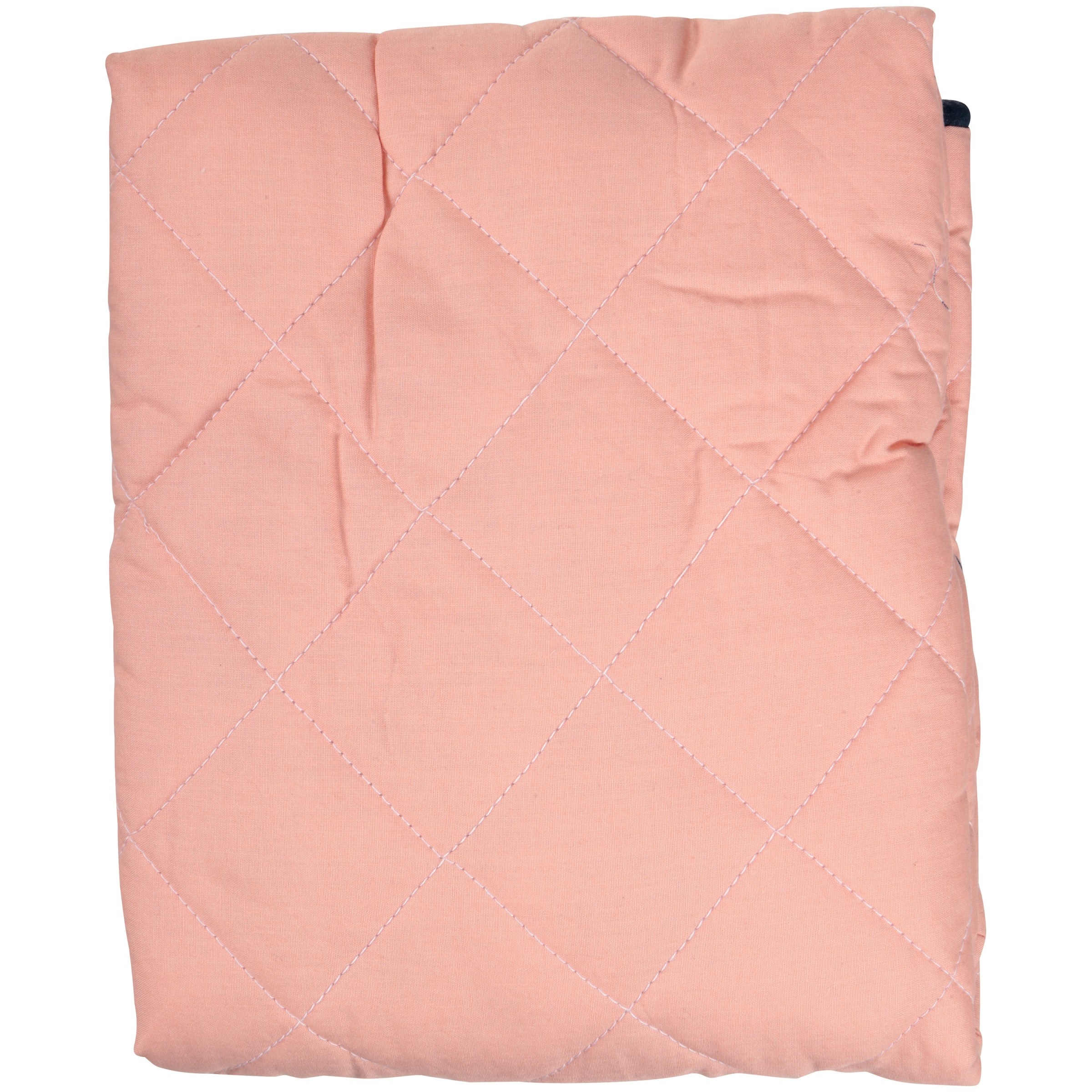 Bacati Emma Aztec Solid Coral/Navy Quilted Changing Pad Cover