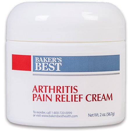 Baker's Best Arthritis Pain Relief Cream – arthritis cream, pain relief, topical numbing cream – Methyl Salicylate, Menthol, Lidocaine, Aloe Vera Gel, Emu Oil, Glucosamine Sulfate, MSM – 2 oz Aloe Vera Pain Relief