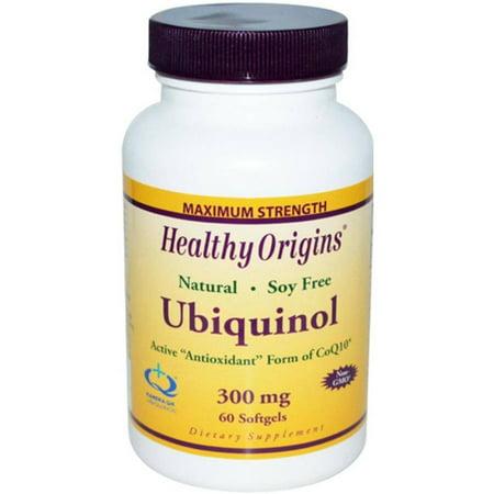 Healthy Origins ubiquinol, la forma activa antioxidante de CoQ10, 300 mg, 60 CT