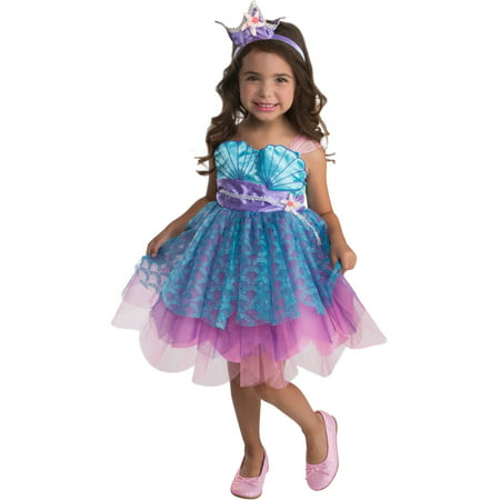 Ocean Mermaid Enchanter Girls Toddler Dress Costume 3T-4T](Mermaid Costume Toddler)