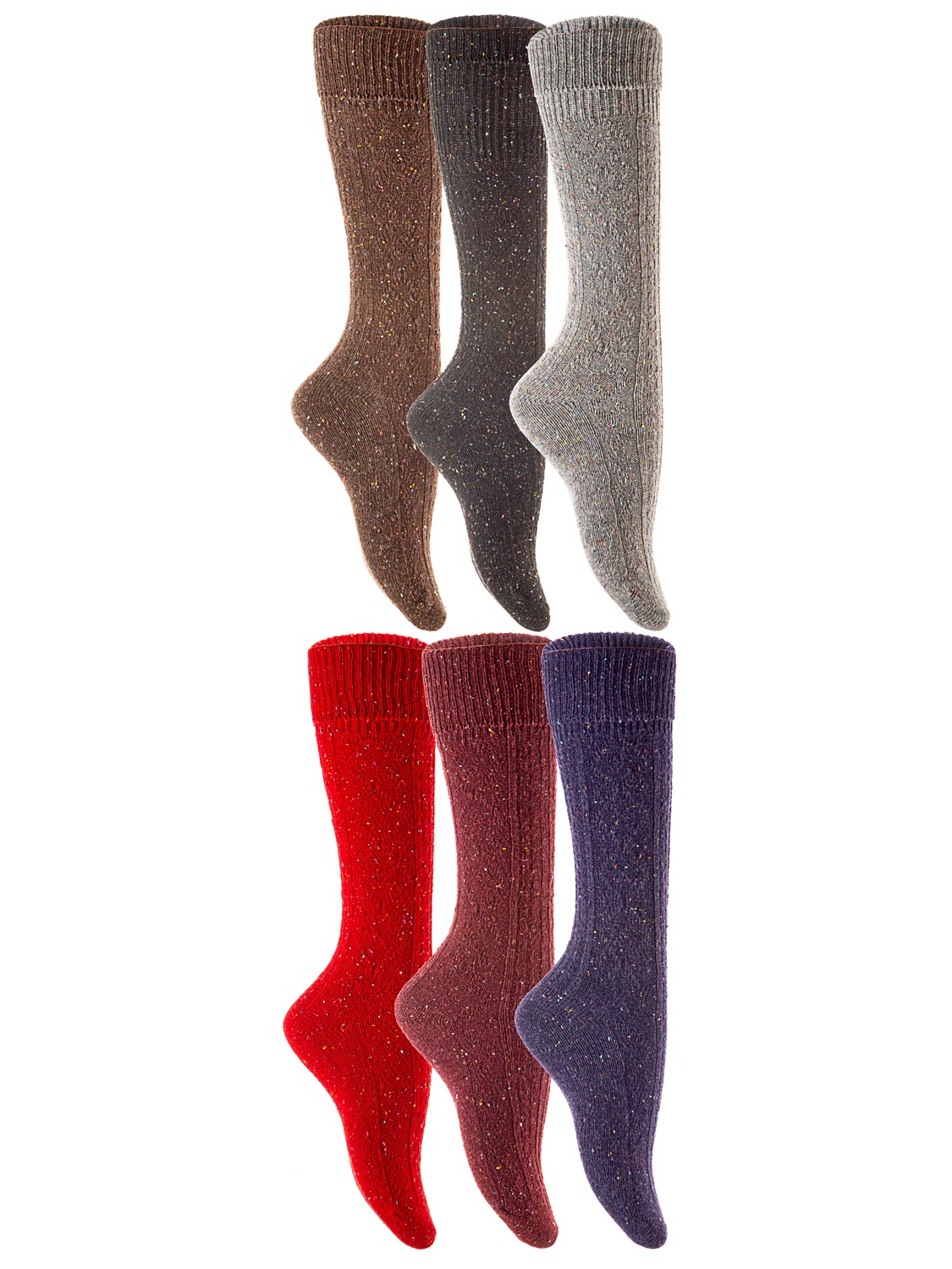 5 Pair Pack with Stay On Technology STAY UP Boys Knee High School Socks