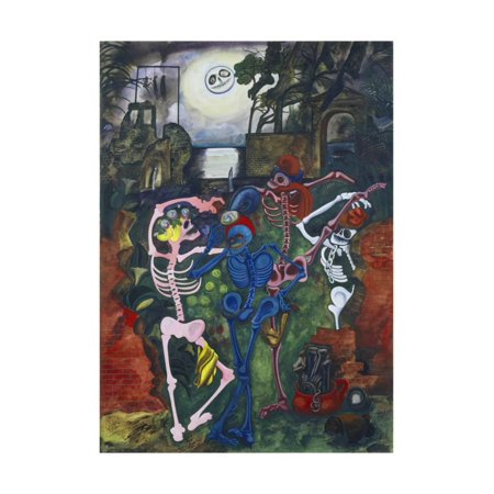 Dancing Skeletons Print Wall Art By Edward Burra