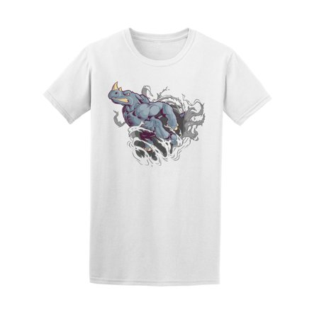 Strong Rhino Ripping Paper Tee Men's -Image by -