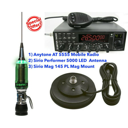 Combo: Anytone AT 6666 Mobile Radio with Sirio Performer 5000 LED Antenna with Mag 145 PL Mag Mount](tecsun pl 880 external antenna)