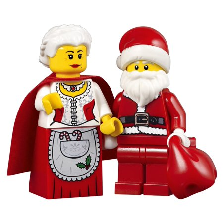 Lego Holiday Creator Set Of 2 Minifigures   Mrs  Claus And Santa With Red Sack  Minifigure