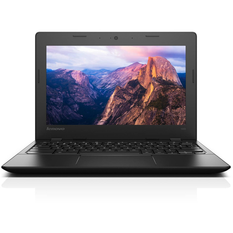 "Lenovo Black 11.6""  IdeaPad 100S Chromebook PC with Intel Celeron N2840 Processor, 2GB Memory, 16GB Hard Drive and Chrome OS"
