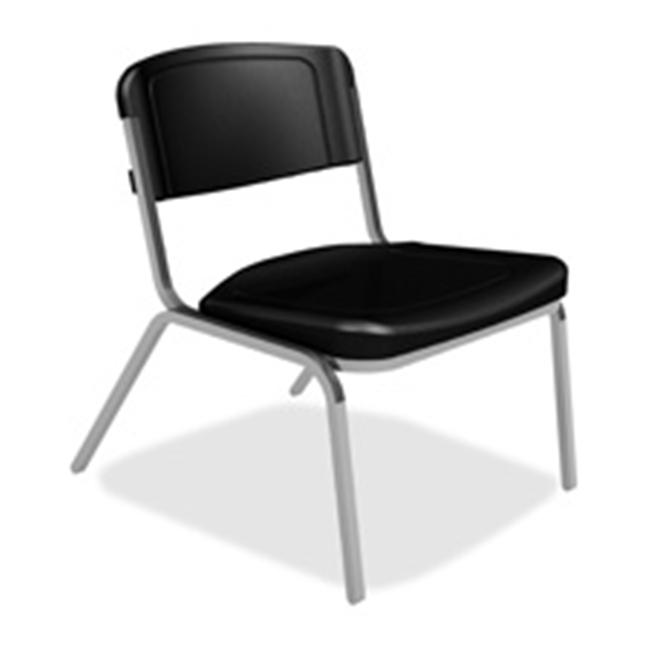 Iceberg Enterprises ICE64021 Stack Chair- 350 lb Capacity- 26inchx27x32inch- Washable- Black